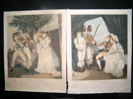 F. Bonnefoy aft Francis Wheatley C1790 Folio Col. Stipples (2) Theatrical Scenes